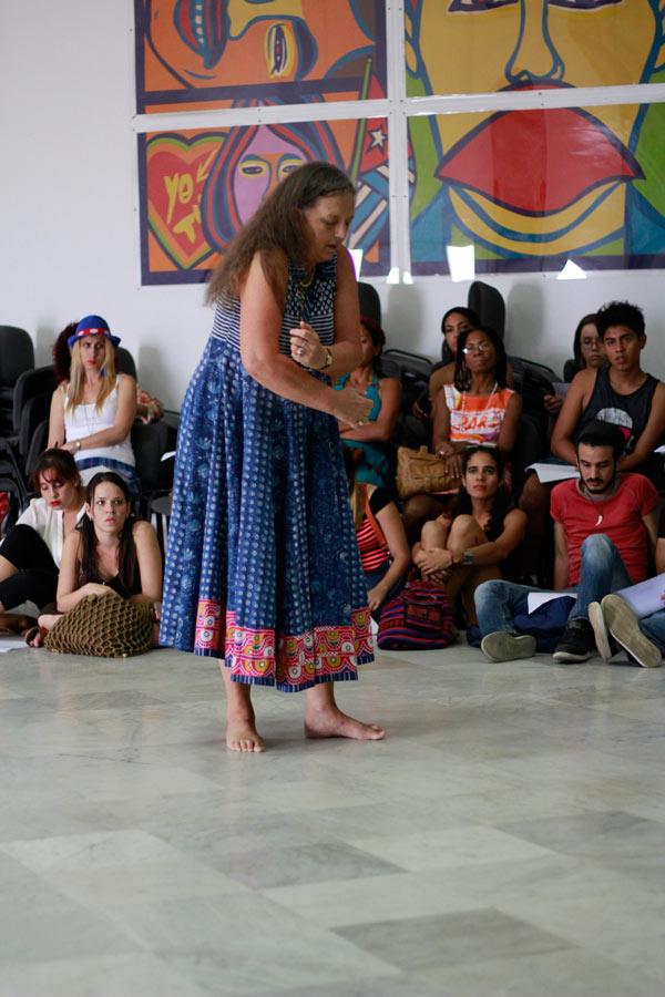 Julia Varley en Casa de las Américas(Cuba)