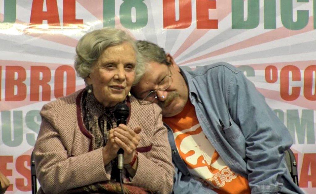 foto de  Elena Poniatowska y Paco Ignacio Taibo II