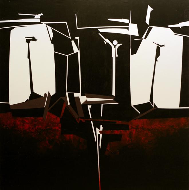 exposición Abstractivos del autor Pedro de Oraá