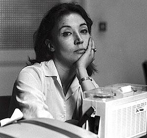 foto de Oriana Fallaci periodista y escritora italiana